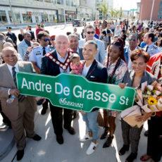 Downtown Markham unveils Andre De Grasse Street
