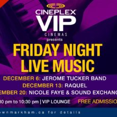 Cineplex VIP Lounge music series extended to December 20